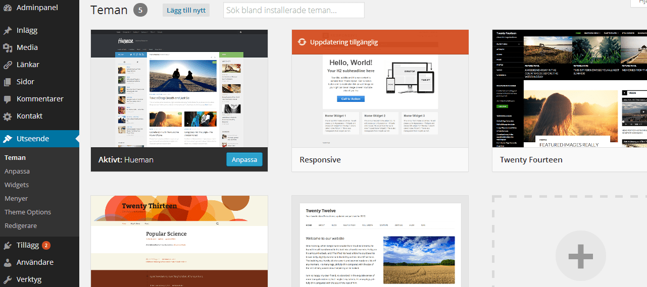byta WordPresstema bild