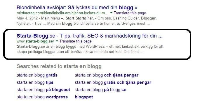 hur kan man kolla sin placering på google med manuell sök