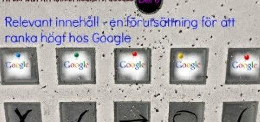 innehåll relevant för google