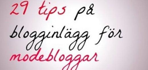tips på blogginlägg modebloggar