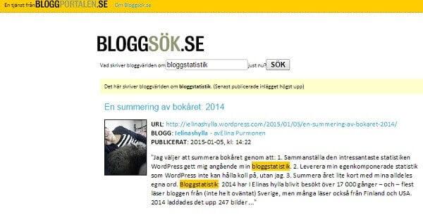 bloggsök