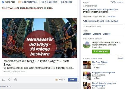 bloggtrafik från facebook
