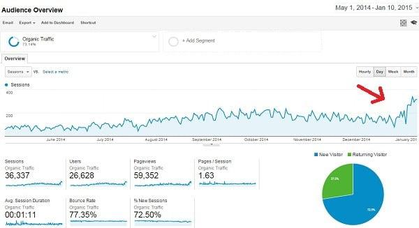 google analytics organisk trafik