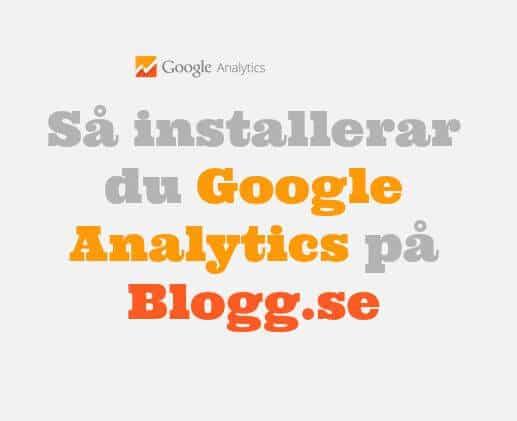 Google Analytics på blogg.se
