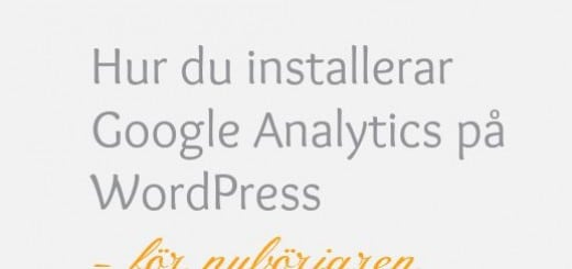installera Google Analytics