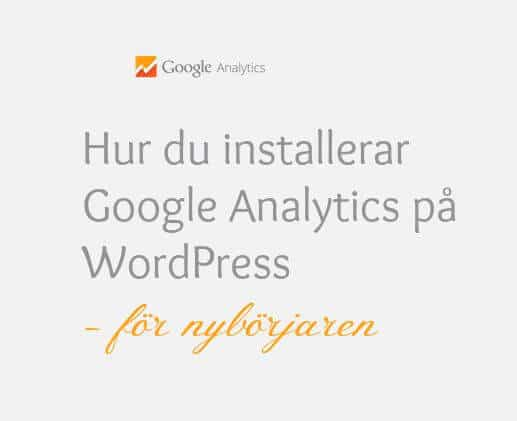 installera Google Analytics