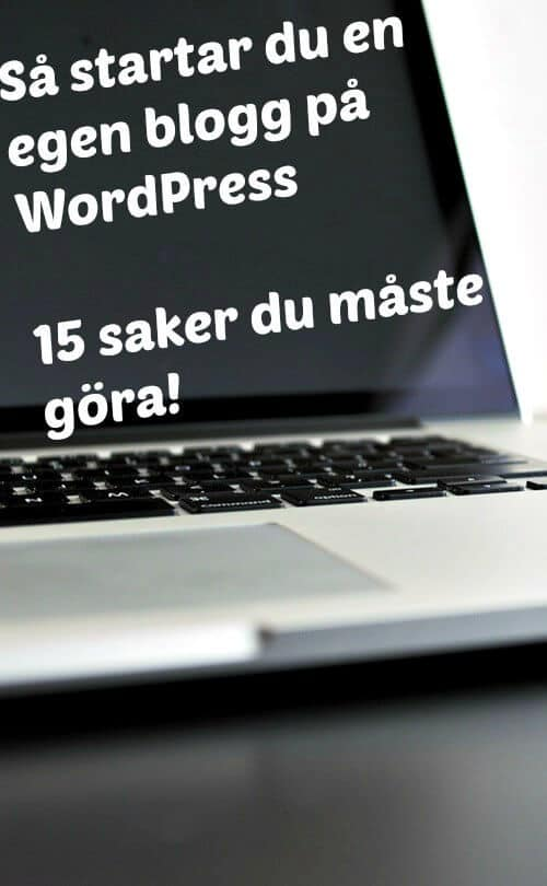 starta egen blogg