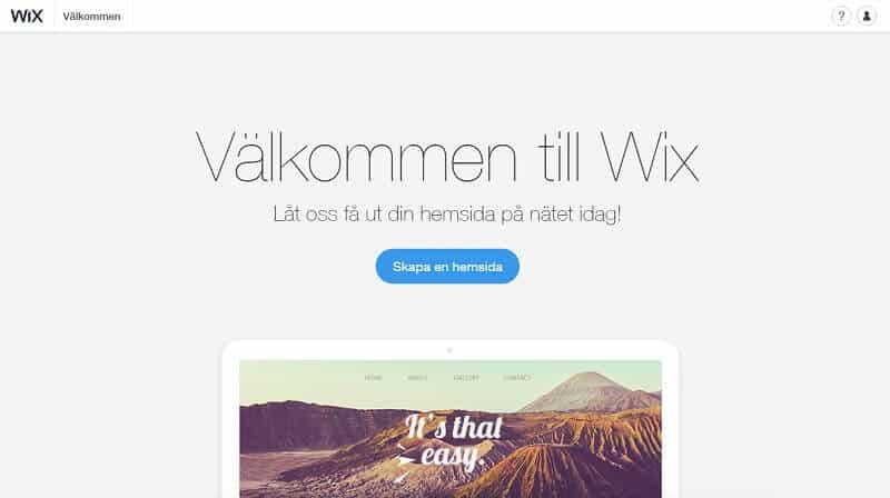 wix hemsida